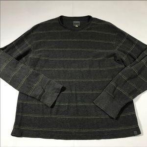 Men's Prana Long Sleeve Grey Stripe Shirt XL